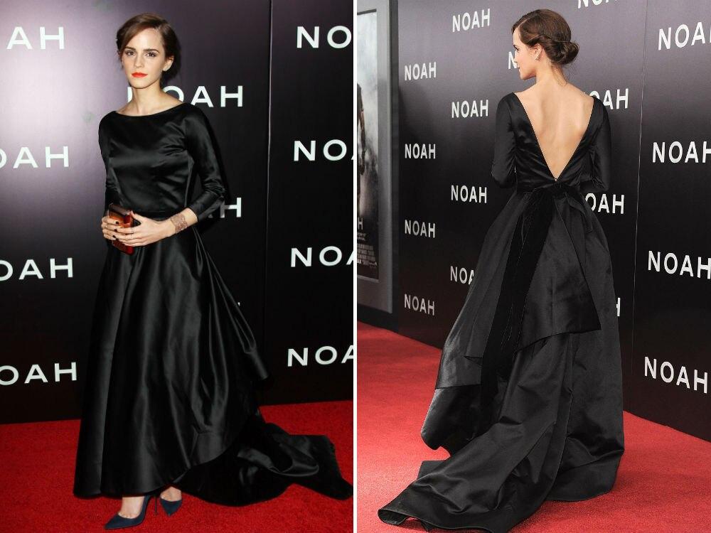 2017 Réel Bandage Robe Grande Robe Oscar Emma Watson Plein ...