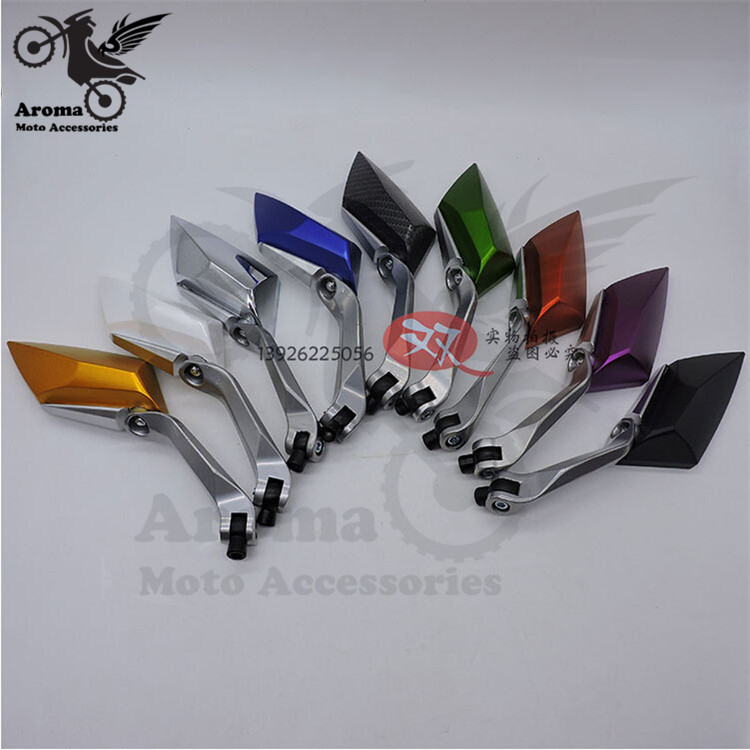 8 colors optional moto side mirror 10mm 8mm motocross ATV Off-road dirt pit bike scooter motorbike rearview motorcycle mirrors