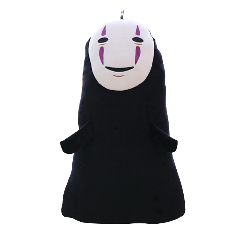 1pc 60cm Spirited Away No Face Ghost Kaonashi Plush Pillow Staffed Creative Plush Toy