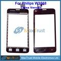 """Top Quality 4.0 """"China Versão Para Philips W3568 Sensor Do Painel de Toque Digitador Da Tela de Toque de Substituição Preto Frete Grátis"""