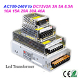 LED transformer DC12V2A 3A 5A 8.5A 10A 15A 20A 30A 40A indoor power supply for 3528 5050 led strip light