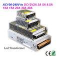 LED transformer DC12V2A 3A 5A 8.5A 10A 15A 20A 30A 40A indoor power supply for 3528 5050 led strip light