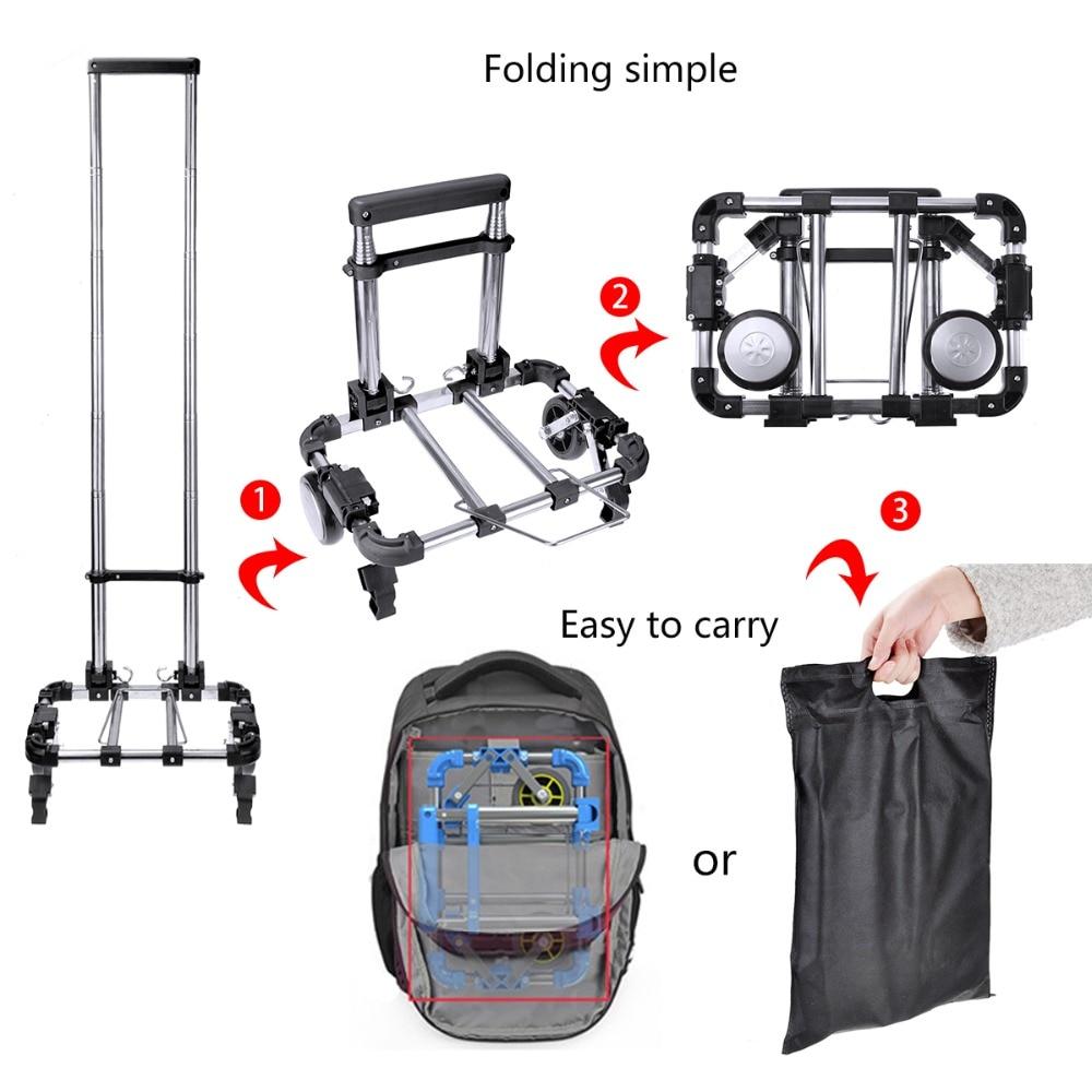 Multifungsi Lipat Portabel Keranjang Belanja Rumah Aluminium Troley Traveling Praktis Angkat Bagasi Max 150 Kg 01 03 02 05 04 07 001