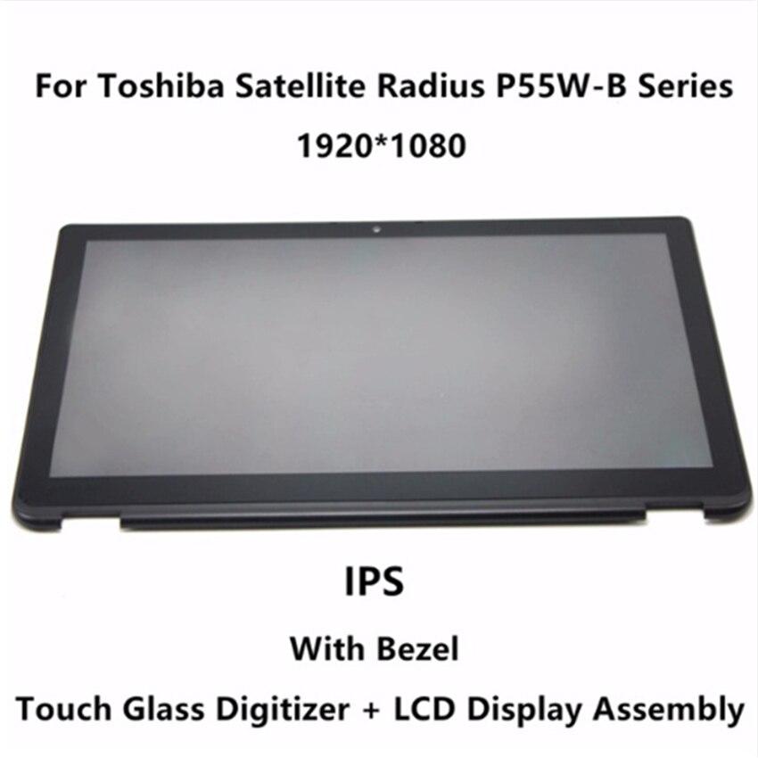 LCD מסך מגע + מסגרת LP156WF5 (SP) (A2) עבור Toshiba Satellite רדיוס P55W-B סדרת P55W-B5114 P55W-B5318 P55W-B5112