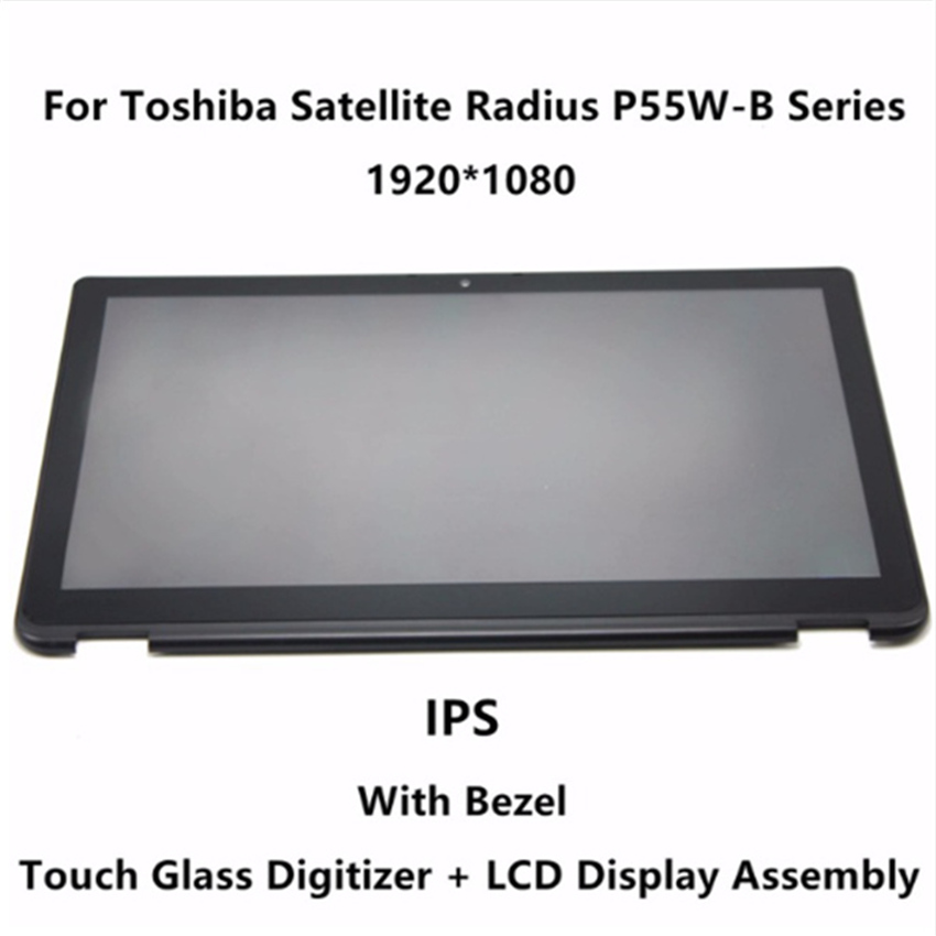 LCD Touch Screen + Frame LP156WF5(SP)(A2) For Toshiba Satellite Radius P55W-B series P55W-B5114 P55W-B5318 P55W-B5112 цена