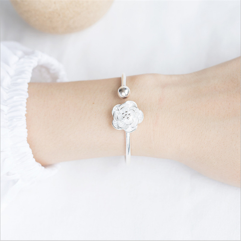 Women Bracelets & Bangles sakura elegant rose silver color top quality party accessories braclets Jewelry for ladies