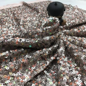 nice looking sequins  embroidery tulle mesh lace fabric ZH-345 with good quality for party dress