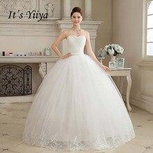 · ノビア 新着リアル写真プラスサイズのストラップレスの真珠白の王女のウェディングドレス格安花嫁フロック HS103