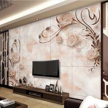 Kundenspezifische 3d Effekt Moderne Mode Fotowand Wohnzimmer Schlafzimmer Desktops Wandbild Europischen Romantische Marmor Flie