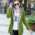 XXXL Plus Size Autumn Winter Women Casual Hoodies Sweatshirts Long Sleeve Hooded women's Fleece Warm Long Coat Jackets Hoody
