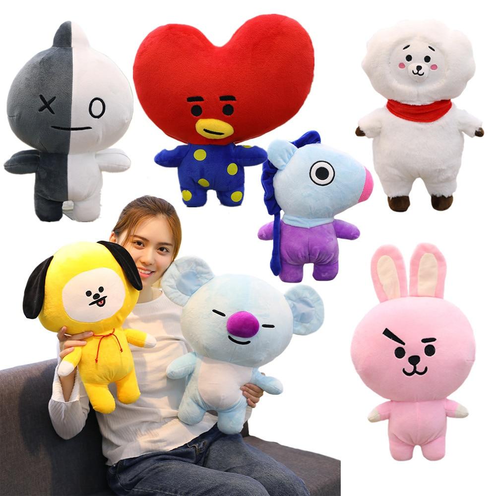 1 punid za 25/35/45 cm Cute Bangtan Boys BTS bt21 Plush Toy TATA VAN COOKY CHIMMY SHOOKY KOYA modular Gift Pillow Cushion Children Gift