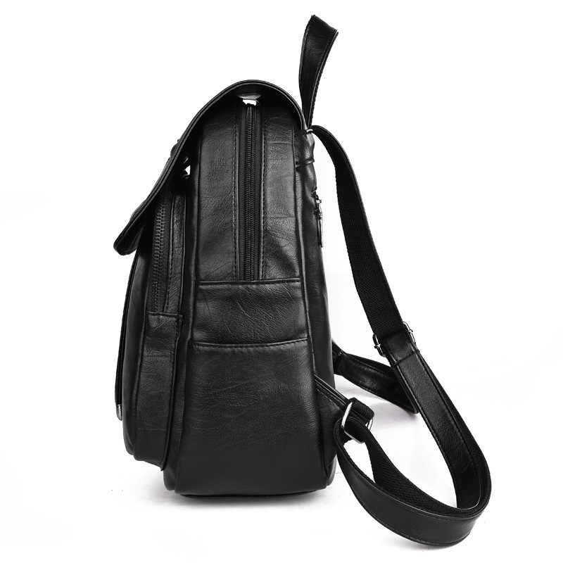 Модный Pu лаконичный кожаный рюкзак, женские школьные сумки, рюкзаки для девочек-подростков, Студенческая сумка, сумка Mochila Mochilas, рюкзак