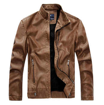 ZOEQO NEW top quality Leather Jacket Men jaqueta de couro masculina mens leather jacket and Coat Motorcycle Jacket