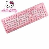 Pink Hello Kitty Keyboard USB Wired Cute Girls Ultra thin Computer USB Keyboard For Desktop Girls teclado