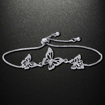 Fashion Butterfly Bracelet & Bangle For Women Simple Adjustable Gold Silver Bracelets