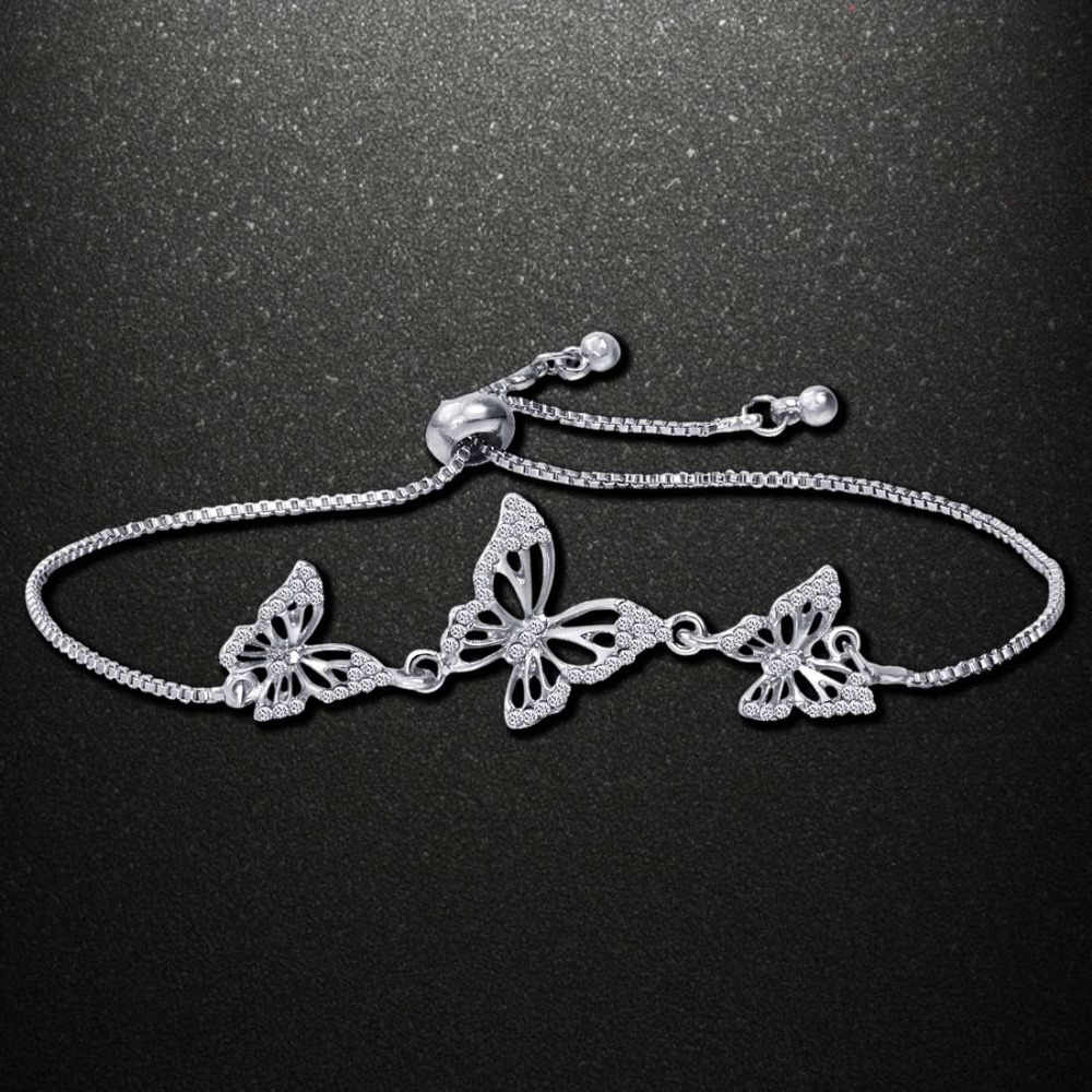 Fashion Butterfly Bracelet & Bangle For Women Simple Adjustable Gold Silver Bracelets Pulseras Mujer Jewelry Party Gifts