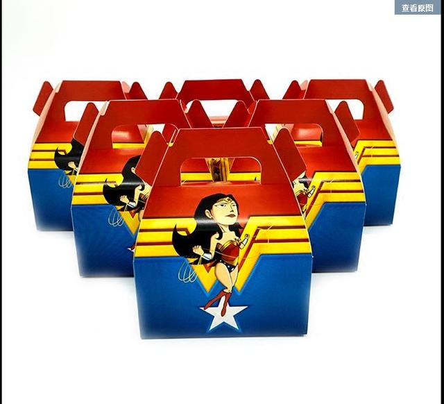 24pcs Wonder Woman Candy Boxes The New Theme Birthday Party Baby