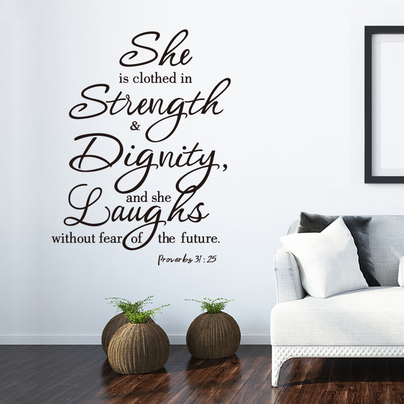 She Is Clothed In Strength Dignity And Laughs Without Fear Of The Future Wall