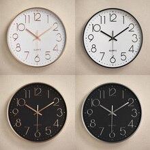 6fc0bb7b12bf De plástico mudo Retro pared reloj de moda creativa Sala estéreo de Digital  Escala de oro