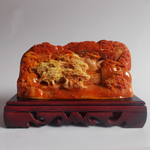 Hand engraving Artwork Special offer new Shoushan stone carving decoration Feng Shui jade talisman shipping busi