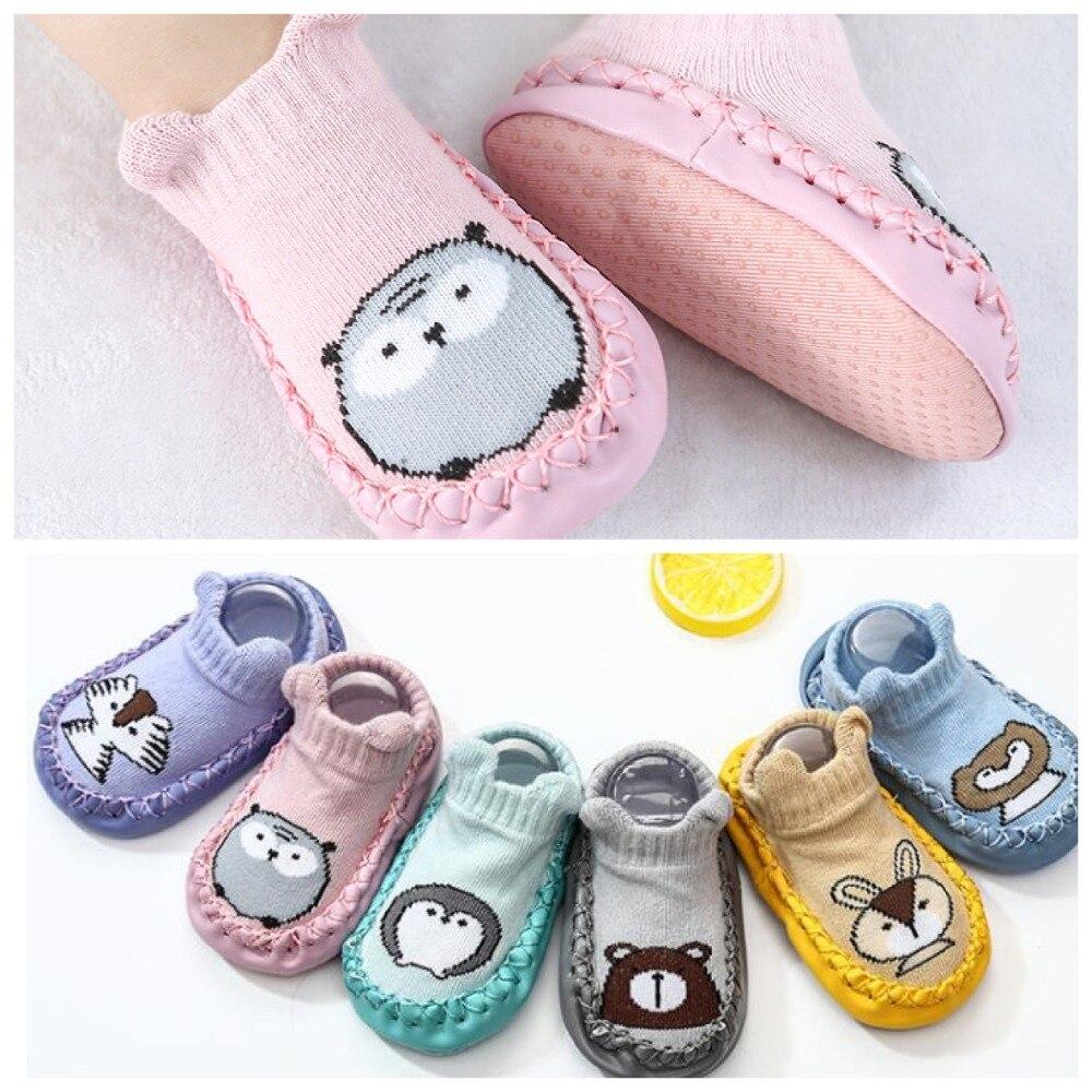 2019 модные детские носки с резиновой подошвой, носки для новорожденных, Осень зима, детские носки для пола, обувь, нескользящие носки с мягкой подошвой| |   | АлиЭкспресс
