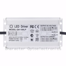 Free Shipping 1pcs Isolation 100W AC85-277V LED Driver 6-10x10 3A DC18-34V IP67 Waterproof Constant Current For Spotlights 6a 200w waterproof constant current led driver silver ac 85 277v