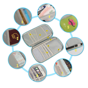Image 1 - Multi Functional Travel Passport Package Credit ID Card Cash Wallet Multicolor Holder Case Storage Bag Purse Documents Zipper