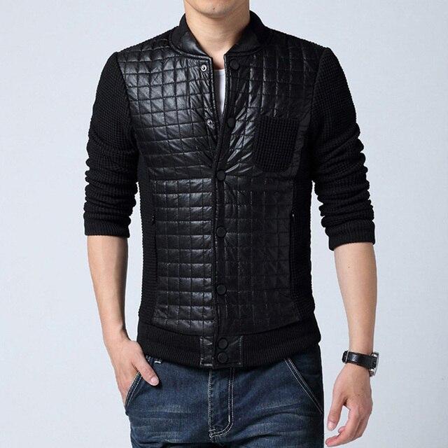 2016 Men Jacket Coat Parkas Men's Casual Fashion Slim Fit Large Size Cotton Jacket Coat Winter Thickening Down Cotton Coat Parka