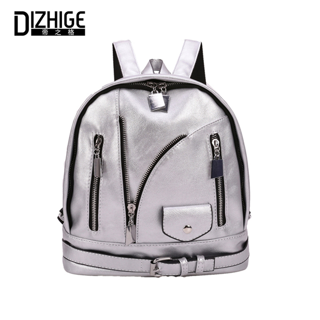 DIZHIGE Brand Fashion PU Leather Women Backpacks Thread School Bags For  Teenager Girls Luxury Patchwork Clothes Backpacks Women ee6df6c4993ab
