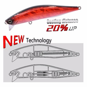 EWE AR-C Superficial Layer Minnow Lure Depth 0-20CM Riffle Surface Fishing Lures Steady Casting Fishing Wobblers