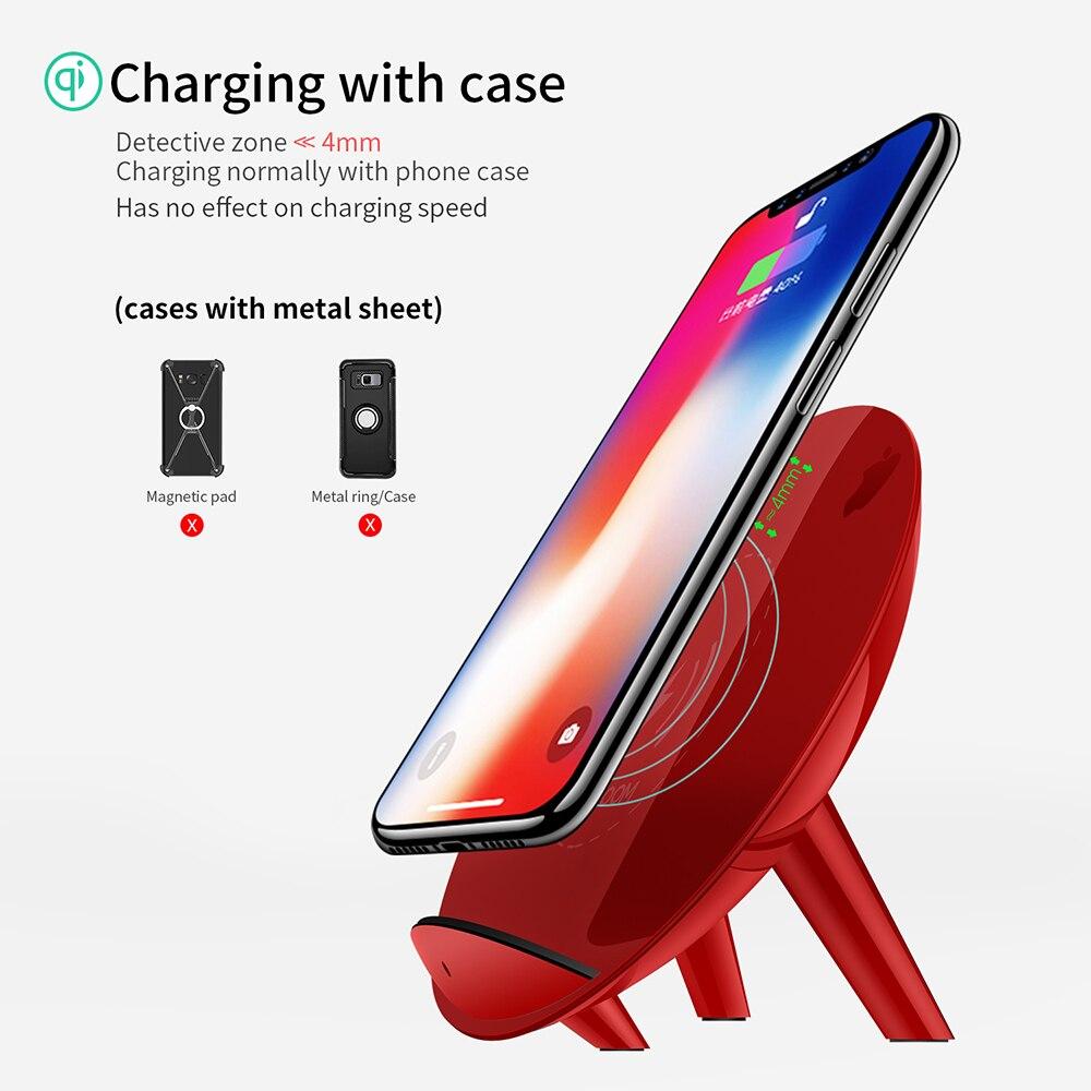 Joyroom 10 W Qi chargeur sans fil pour iPhone X 8 Plus rapide USB sans fil chargeur pour Samsung Galaxy S8 Plus Note 8 S6 S7 Edge + - 6