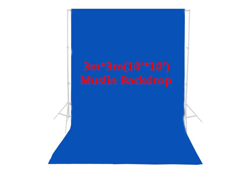 Photo Studio Photography 10ft x 10ft/3m x 3m Studio Solid Background Muslin Backdrop Blue 100% Cotton High Quality PSB4A