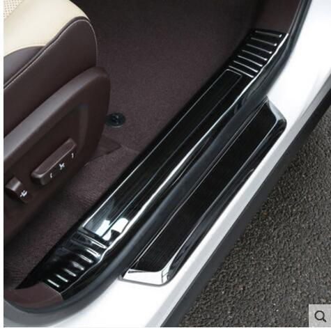 Car Accessories Stainless Steel Inner+Exterior Door Sill Scuff Plate Door Sill Threshold For LEXUS RX200t 450h 2016 with LOGO free shipping new for toyota tundra door sill stainless steel scuff plate threshold sticker accessories 4 pcs with lamp