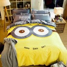 DIFUNINA Lovely Cartoon Child Cotton Bedding Set Active Printing Bed Sheet Pillowcase Duvet Cover Home Textiles