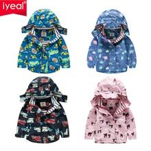 IYEAL Kids Hoodies Boys Girls Cotton Sweatshirt Toddler Baby Long Sleeve Cartoon Print Hooded Coat Tops Outfits