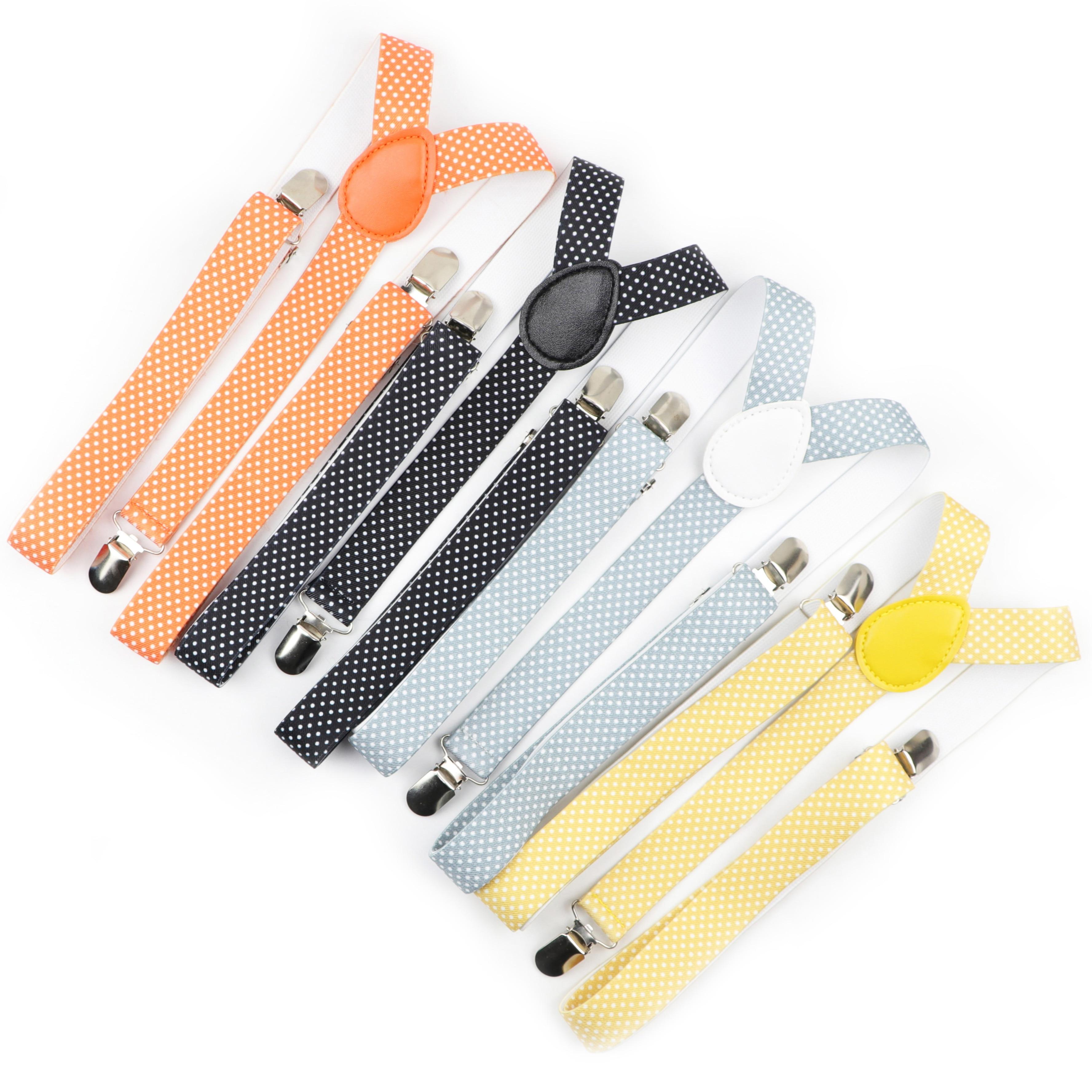 Man Dot Colorful Belt Men Woman Men's Suspenders Bright Clip-on Y-Back Braces Elastic Women Adjustable