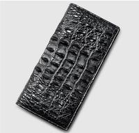 100% натуральной кожи аллигатора кожаный бумажник мужчины крокодиловой кожи Кошельки и портмоне, роскошь зажим для денег для деловых людей