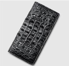 100% genuine alligator skin leather men wallet crocodile leather skin wallets and purse, luxury money clip for business men