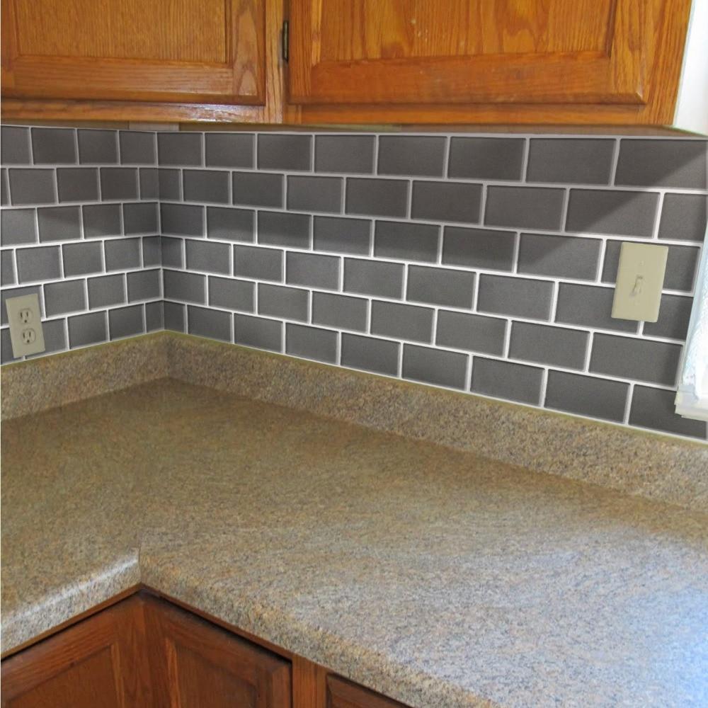 3d adhesive faux tile vinyl peel and stick tiles subway tile decorative for bathroom kitchen