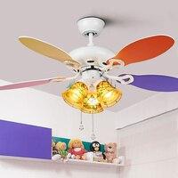42 Inch Modern Quiet Ceiling Fan Kids Room Ceiling Fans With Lights Mini fan lamp Children Bedroom ceiling light Fan Lamp