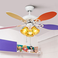 42 Inch Modern Quiet Ceiling Fan Kids Room Ceiling Fans With Lights Mini fan lamp Children Bedroom ceiling light Fan Lamp