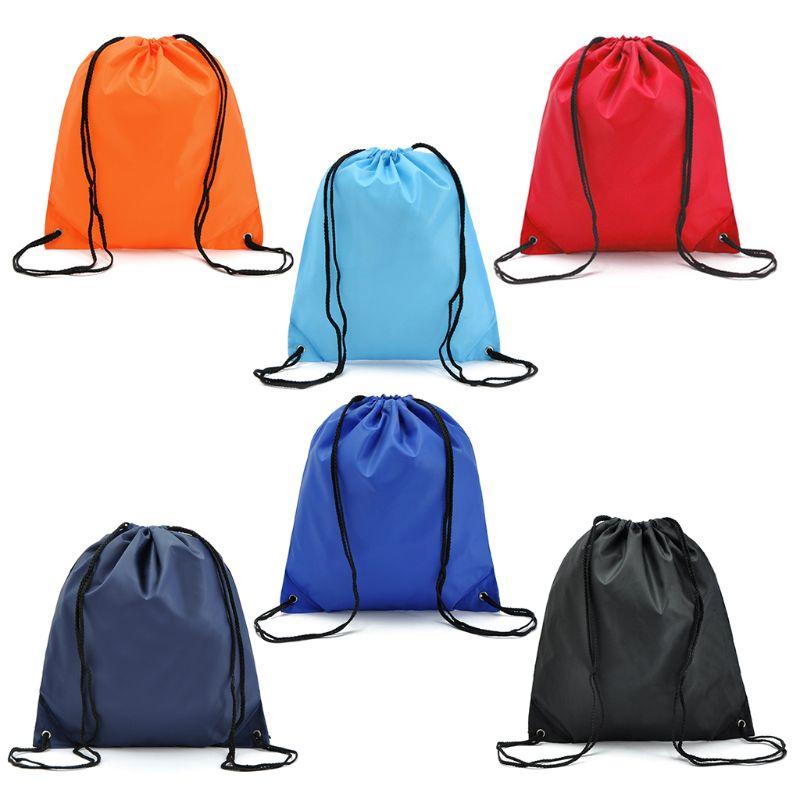 Portable Oxford Sports Bag 210D Nylon Drawstring Bags Belt Riding Backpack Gym Drawstring Shoes Bag Clothes Backpacks WholeSale