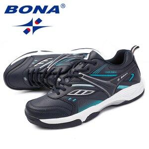 Image 5 - BONA החדש הגעה קלאסיקות סגנון גברים נעליים יומיומיות פיצול עור גברים חיצוני אופנה סניקרס נעליים נוח מהיר משלוח חינם