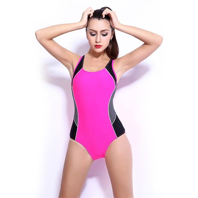 a7d80c4d4bd85 Slimming Sexy Women One Piece Swimsuit Sports Quick Dry Swimwear Bodysuit  one-piece Monokini Female