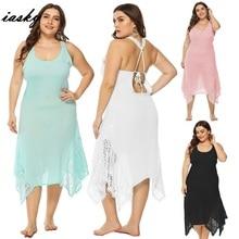 cd2376aa7d8 IASKY 2019 plus size Beach dress Sarongs Saida de Praia swimsuit Cover up  bikini. US $14.94 / piece Free Shipping