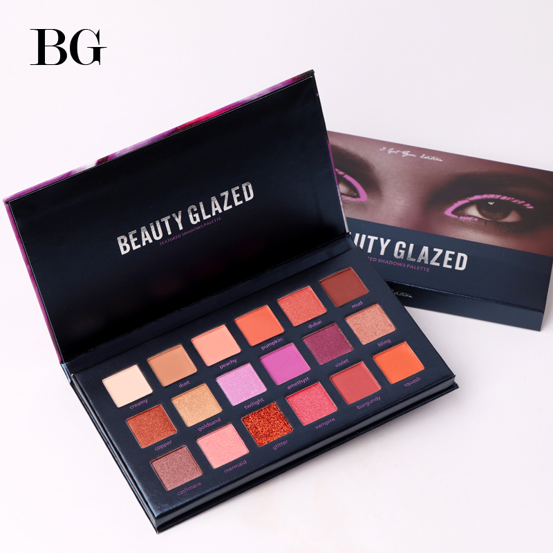 BEAUTY GLAZED Makeup Palette Eyes Shadow Easy To Wear Eyeshadow Natural Matte Shimmer Long-lasting Eye Shadow 18 Colors beauty glazed brand 35 colors face makeup eye shadow palette eyeshadow pallete shades shimmer matte eye shadow beauty maquiagem