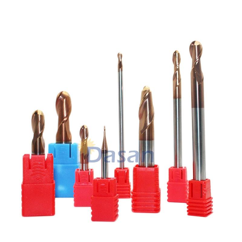 KLOT Solid Carbide End Mill 3mm-16mm Extended Shank 100mm 2-Flute Cutter K10