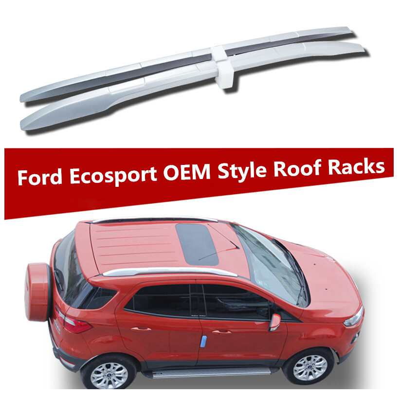for ford ecosport 2012 2016 roof rack rails bar luggage carrier bars top racks rail boxes. Black Bedroom Furniture Sets. Home Design Ideas