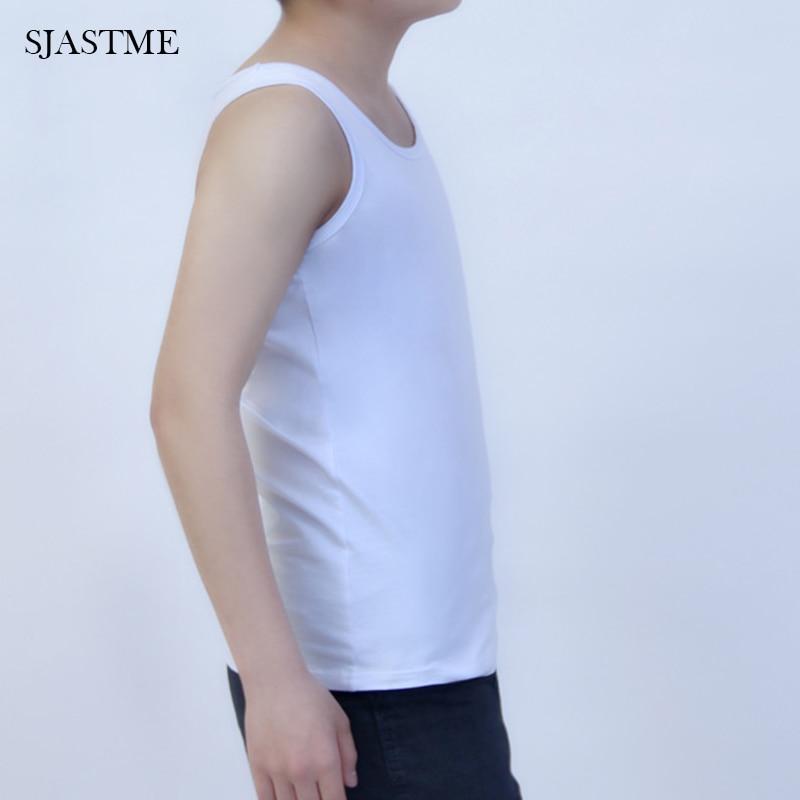 Chest Binder Les Lesbian Casual Breathable Cotten Long Chest Breast Binder Trans Undershirt Vest Tops S-4XL Tomboy Bra Intimates