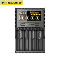 NITECORE SC4 Intelligent Faster Charging Superb Charger with 4 Slots 6A Total Output Compatible IMR 18650 14450 16340 AA Battery Battery Chargers